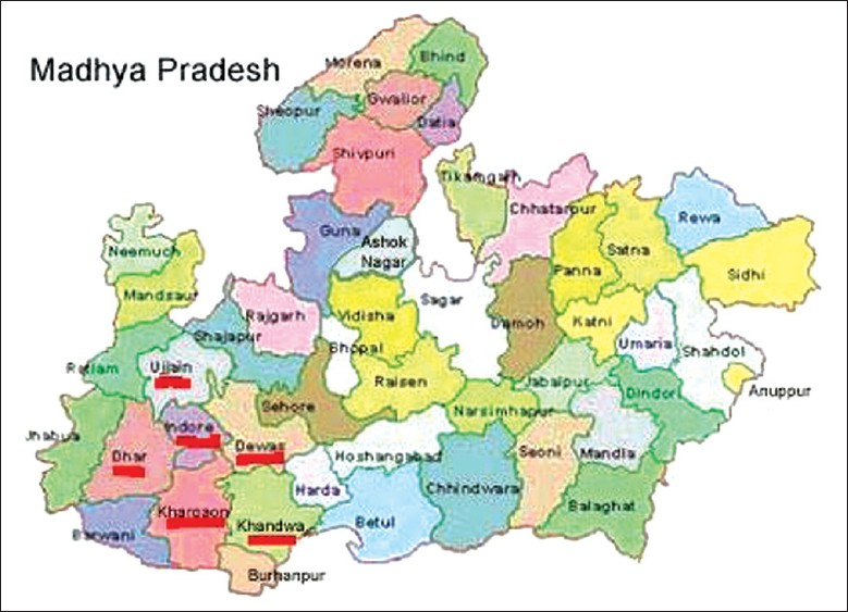 Ujjain India Map.View Image