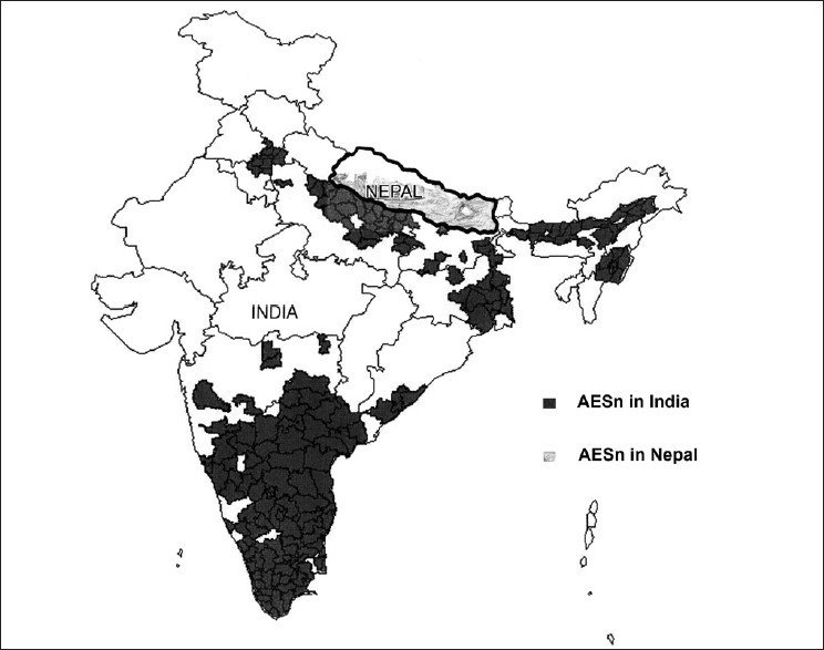 Figure 5: Distribution of AESn in India and Nepal